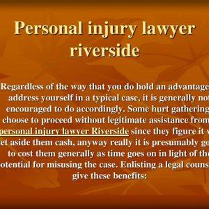 Personal injury lawyer riverside